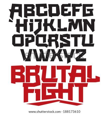 vector font cool modern type
