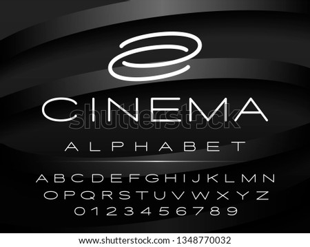 vector font for logo and design