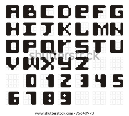 vector font in alphabetical order