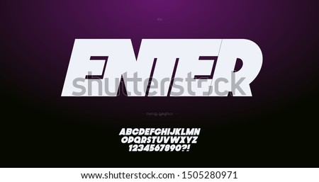 vector font slanted bold style