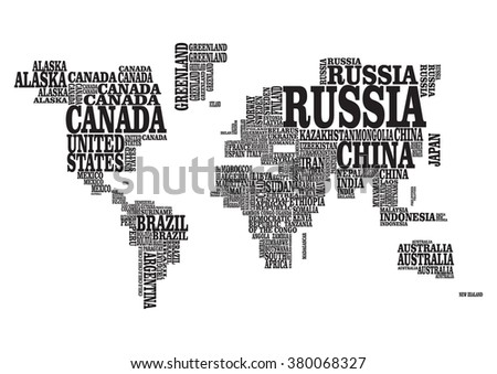 vector font world map