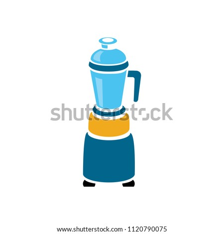 vector food blender illustration - kitchen appliance. mixer
