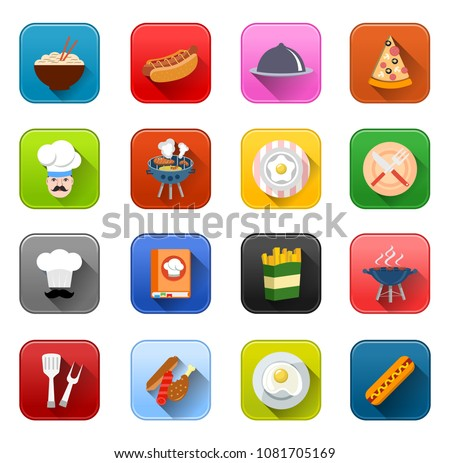 vector food Cooking icons - restaurant symbols