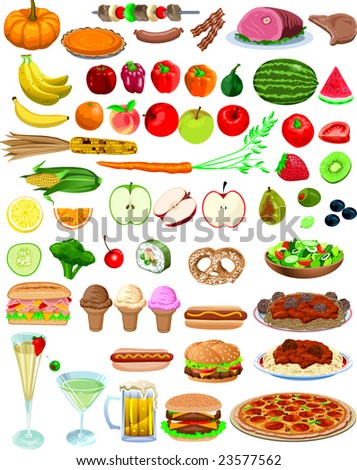 http://image.shutterstock.com/display_pic_with_logo/81586/81586,1232430808,2/stock-vector-vector-food-items-23577562.jpg
