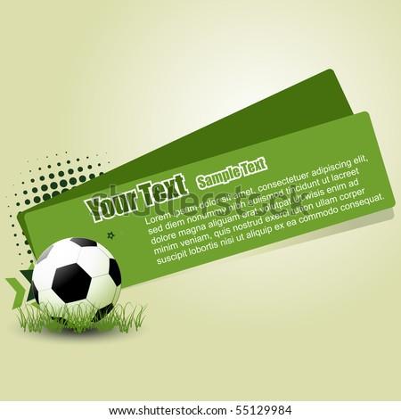 vector football abstract design illustration