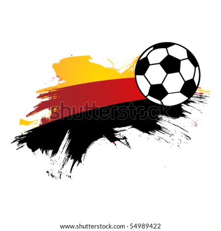 vector football and Germany flag