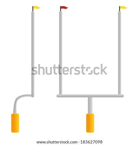 Vector Football Goal Post  Isolated On White Background