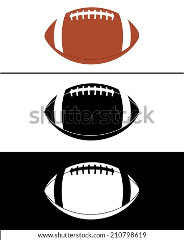 vector football icon set in
