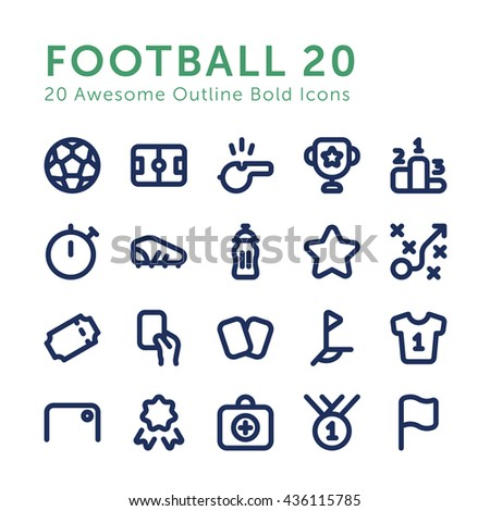 vector football soccer outline
