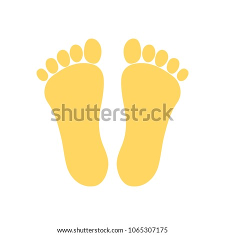 vector footprint illustration - human foot print symbol, feet silhouette isolated