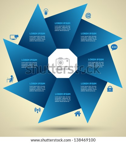 vector for business concepts with icons can use for info graphic loop business business concepts