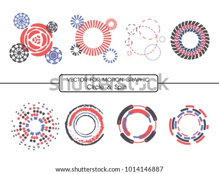 Vector for Motion Graphic Circle and Spin