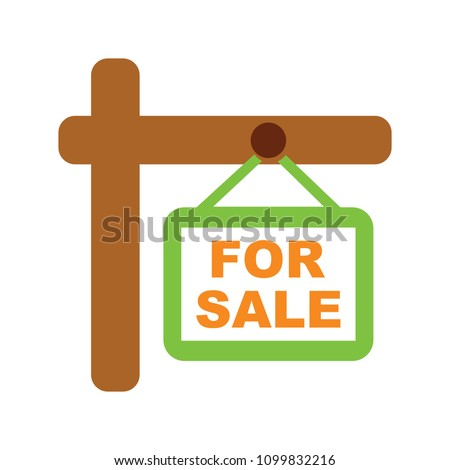 vector for sale sign...