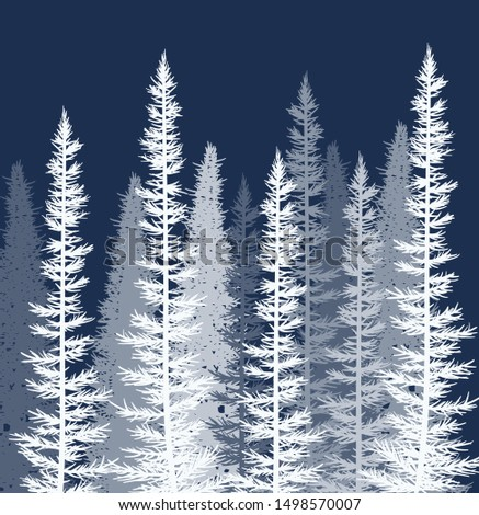 vector forest background white