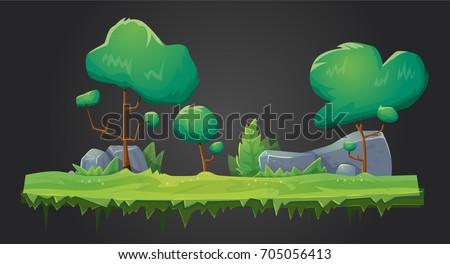 vector forest green organic