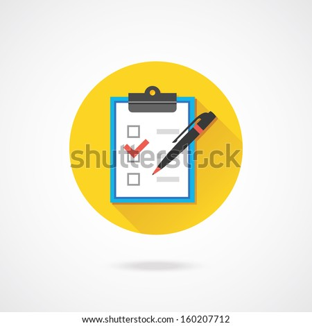 Vector Form with Pen and Checklist Icon