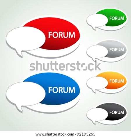 Vector forum menu item - oval sticker