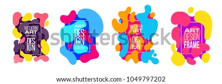 Vector frame background. graphics for hipsters. dynamic frame stylish organic liquid geometric shapes. an element of design of business cards, invitations, gift cards, brochures of leaflets.