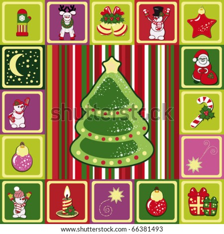 vector frame christmas pattern