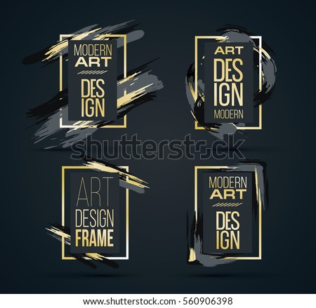 vector frame for text modern