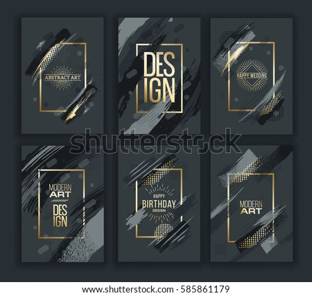 a14f303cba Vector frame for text Modern Art graphics for hipsters . dynamic frame  stylish geometric black background