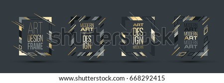 stock-vector-vector-frame-for-text-modern-art-graphics-for-hipsters-dynamic-frame-stylish-geometric-black
