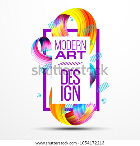 stock-vector-vector-frame-for-text-modern-art-graphics-for-hipsters-vector-realistic-isolated-brush-strokes-d