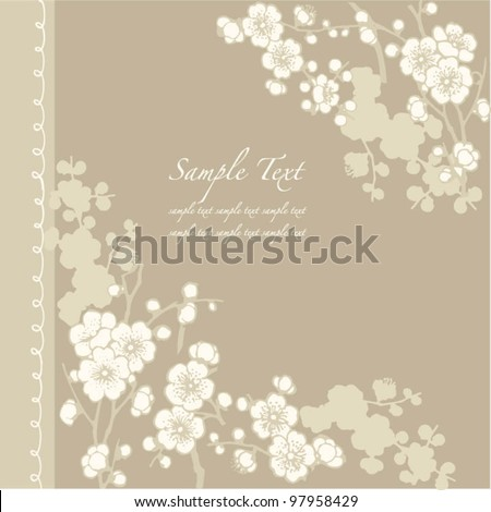 Vector frame for Wedding invitations or announcements
