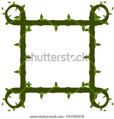 vector frame of vines isolated
