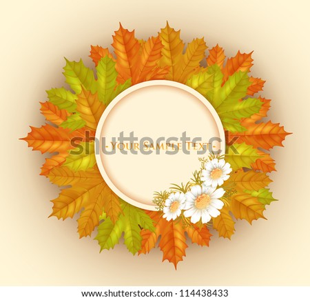 vector frame with autumn maple