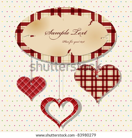 Vector frame with heart shapes