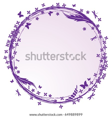 vector frame with lilac