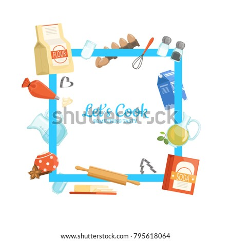 vector frame with place for...