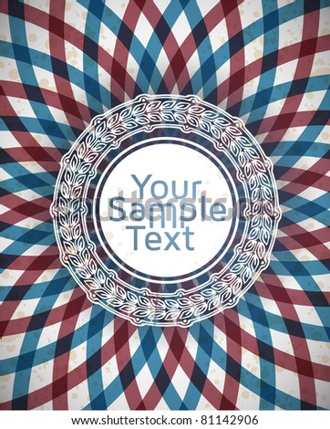 vector frame with rosette on american flag background