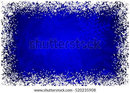vector frame with snowflakes on
