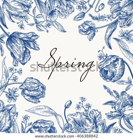 vector frame with spring
