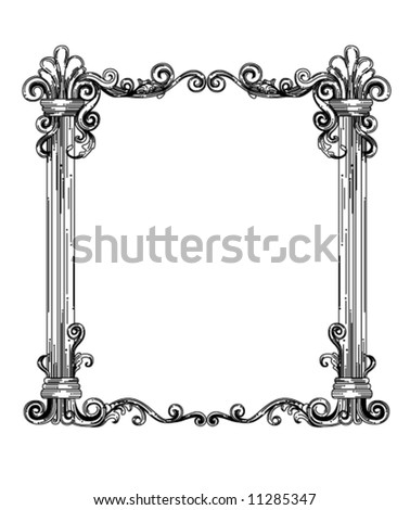 vector framed ornaments  ...