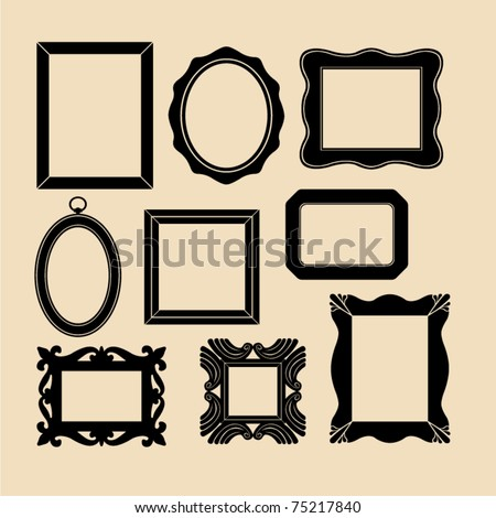 vector frames - stock vector