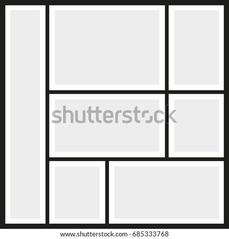 Vector frames photo collage   EZ Canvas