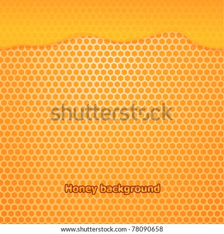 Vector fresh honey background