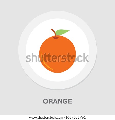 vector fresh orange - natural fruit healthy vitamin diet, organic symbol