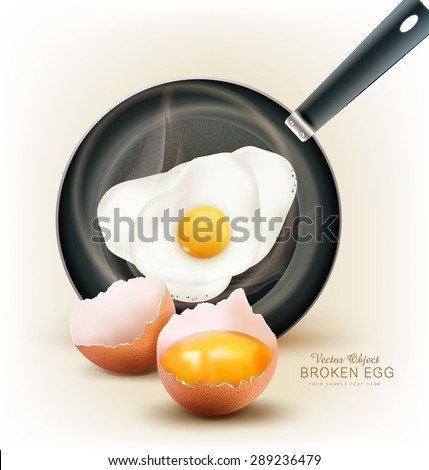 vector fried egg in a frying