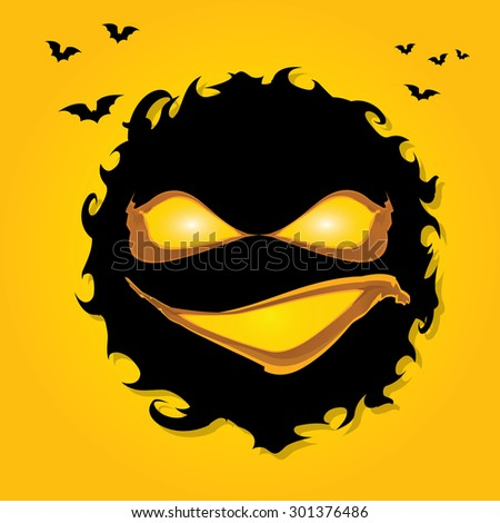 vector frightening monster nightmares concept illustration template
