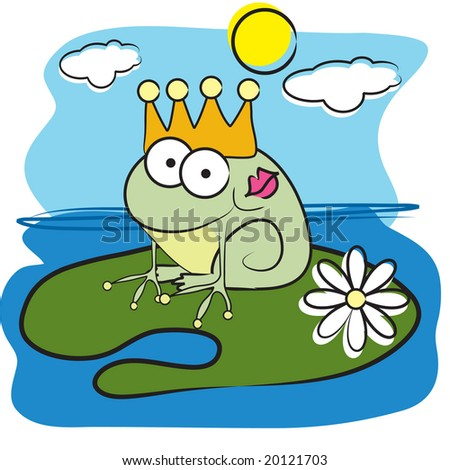 Frog Lily Pad Problem Vector Frog Prince on Lily Pad