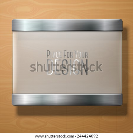vector frosted glass plate with
