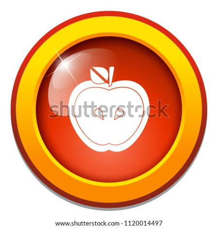 vector fruit. green or red apple illustration isolated. nature symbol - healthy food