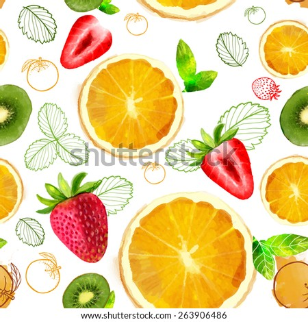 vector fruit seamless pattern
