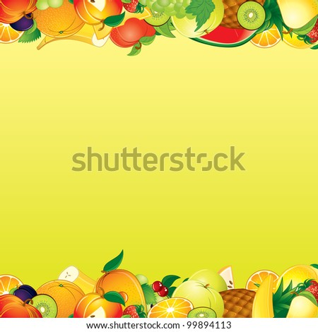 Vector Fruits Background