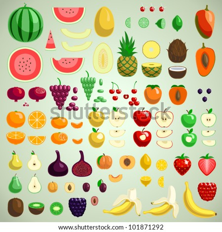 Vector fruits collection, graphic designer's friend edition