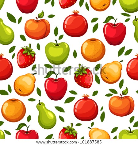 Vector fruits pattern